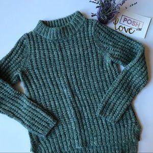 Anthro Fielel Flower Waffle Knit Sweater